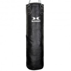 Мешок боксерский Hammer Premium Leather (120x35 см) 92712