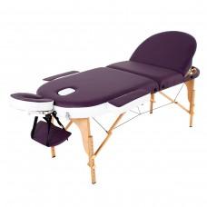Массажный стол RelaxLine Mirage (FMA3021A-1.2.3) фиолетово-белый