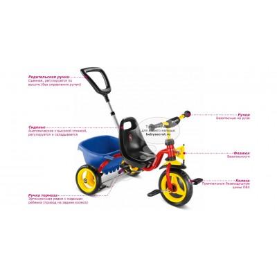 Велосипед трехколесный Puky CAT 1S 2+red
