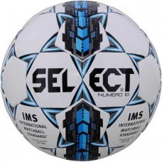 Мяч футбольный SELECT NUMERO 10 IMS бело/серо/голубой размер 5