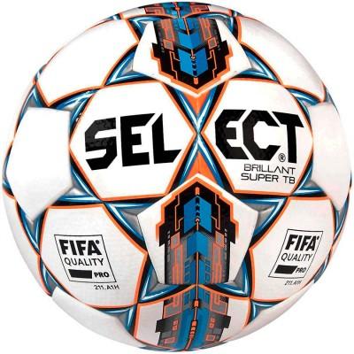 Мяч футбольный SELECT BRILLANT SUPER FIFA TB бело/синий размер 5
