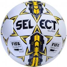 Мяч футбольный SELECT SUPER FIFA бело/серо/желтый размер 5