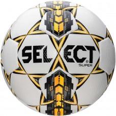 Мяч футбольный SELECT SUPER бело/серо/желтый размер 4
