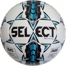 Мяч футбольный SELECT ROYAL IMS бело/серо/бирюзовый размер 5