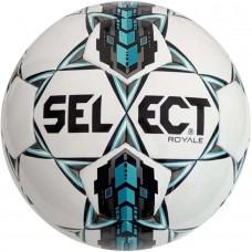 Мяч футбольный SELECT ROYAL бело/серо/бирюзовый размер 4