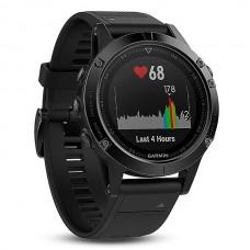 Мультиспортивные часы навигатор пульсометр Garmin Fenix 5 Sapphire 010-01688-11