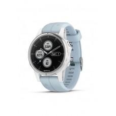 Мультиспортивные часы пульсометр навигатор Garmin fenix 5S Plus Wht w/Sea Foam Bnd 010-01987-23