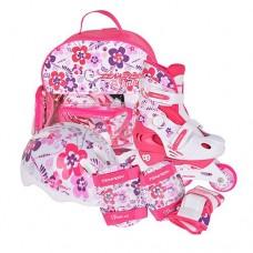 Роликовые коньки детские раздвижные в комплекте Tempish FLOWER Baby skate 1000000007