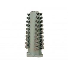 Набор хромированных гантелей Stein 1-10 кг (10 пар) DB3002 (1-10)