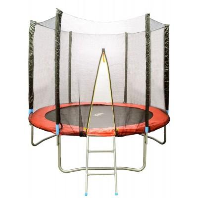 Батут HouseFit HSF HSF 8FT d=2,5 м с сеткой и лестницей, арт. 10756