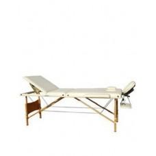 Массажный стол 3-х секционный (дерев. рама) кремовый Relax HY-30110-1.2.3, арт. 25067