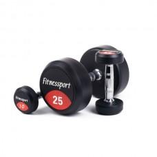 Обрезиненный гантельный ряд от 10 до 25кг. (7 пар) Fitnessport FDS-10 10/25 kg