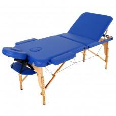 Массажный стол деревянный RelaxLine Malibu FMA306A-1.2.3, темно-синий