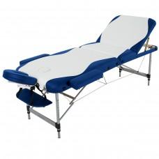 Массажный стол RelaxLine King FMA3051L-1.2.3 бело-синий