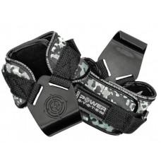 Крюки для тяги на запястья Power System Hooks Camo PS-3370 Black/Grey XL
