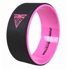 Йога колесо для фитнеса и аэробики Power System Yoga Wheel Pro PS-4085 Black/Pink