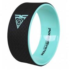 Йога колесо для фитнеса и аэробики Power System Yoga Wheel Pro PS-4085 Black/Green