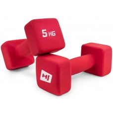 Набор гантелей неопреновых квадратных Hop-Sport HS-V050DS 2х5 кг