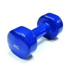 Гантель виниловая SPART 4 кг / пара/ синие DB2113-4Blue