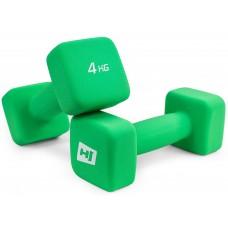 Набор гантелей неопреновых квадратных Hop-Sport HS-V040DS 2х4 кг