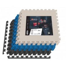 Мат-пазл Hop-Sport EVA 1cm HS-A010PM - 9 частей черный/белый/синий