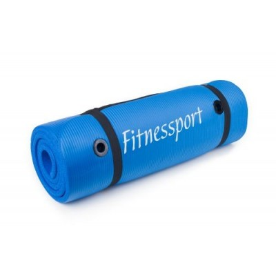 Коврик гимнастический Alex Fitnessport 1800x600x15mm(синий) FT-EM-10-B