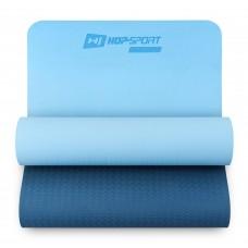 Коврик для фитнеса Hop-Sport TPE 0,6 см HS-T006GM сине-голубой