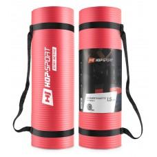 Мат для фитнеса и йоги Hop-Sport HS-N015GM 1,5 см красный
