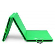 Мат гимнастический Hop-Sport HS-065FM с липучкой 5см зеленый