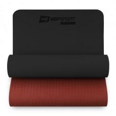 Коврик для фитнеса Hop-Sport TPE 0,6 см HS-T006GM черно-красный