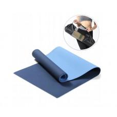 Коврик для фитнеса(йога-мат) с чехлом Newt TPE GR 6 мм сине-голубой NE-5-38-80-BB