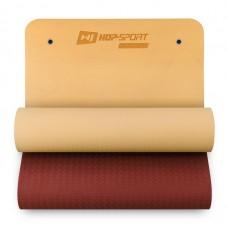 Фитнес-коврик с отверстиями Hop-Sport TPE 0,8 см HS-T008GM оранжево- красный