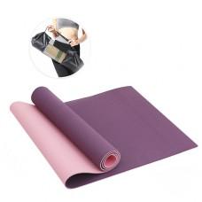 Коврик для фитнеса(йога-мат) с чехлом Newt TPE GR 6 мм фиолетовj-розовый NE-4-15-2-VP