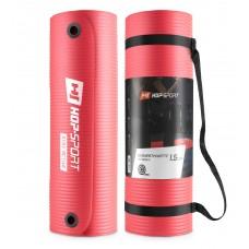 Мат для фитнеса и йоги с отверстиями Hop-Sport HS-N015GM 1,5 см красный