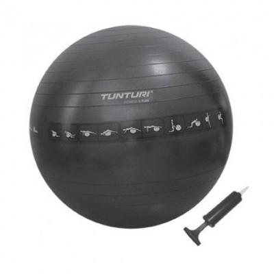Фитбол Tunturi Gymball 65 см, чёрный (антиразрыв), 14TUSFU142
