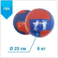 """М'яч BS - медицинбол, ПВХ, червоно/синій, 6 кг"""""""