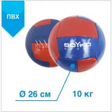 """М'яч BS - медицинбол, ПВХ, червоно/синій, 10 кг"""""""