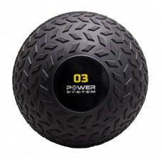 Мяч SlamBall для кросфита и фитнеса Power System PS-4114 3кг рифленый
