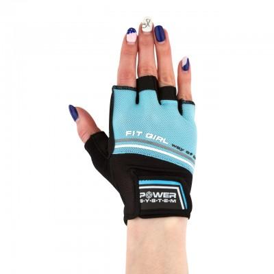 Перчатки для фитнеса и тяжелой атлетики Power System Fit Girl Evo PS-2920 Blue M