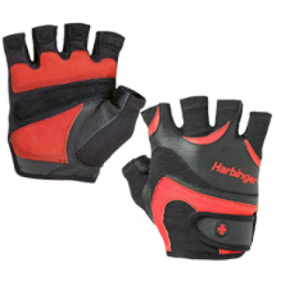 Перчатки мужские HARBINGER Mens FlexFit W&D- blackred L 13830