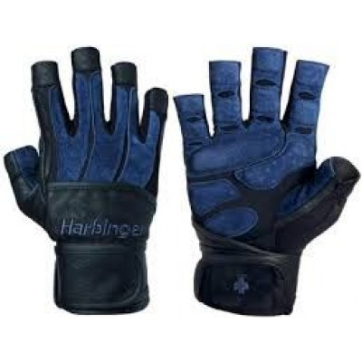 Перчатки HARBINGER BioForm WristWrap Black/Blue S 131012