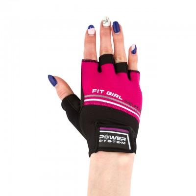 Перчатки для фитнеса и тяжелой атлетики Power System Fit Girl Evo PS-2920 Pink S