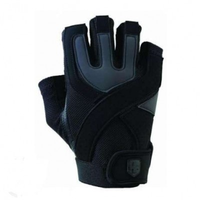 Перчатки тренировочные HARBINGER Training Grip Black/Caribbean Blue M 126020