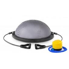Балансировочная полусфера с вкраплениями Hop-Sport HS-MB058B серая