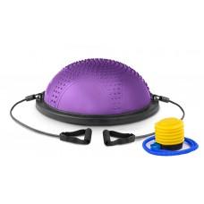 Балансировочная полусфера с вкраплениями Hop-Sport HS-MB058B фиолетовая
