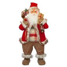 Фигурка новогодняя Санта Клаус, 81 см (Красный / Черный)