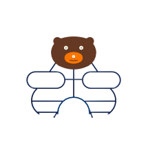 Лазалка Kidigo Медвежонок 22114