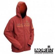Куртка флисовая Norfin Hoody Red (терракот) XL