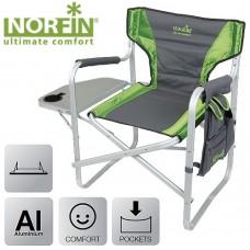 Кресло складное Norfin Risor NF (с откидным столиком) серое