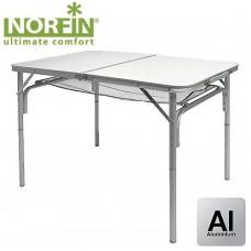 Стол складной Norfin GAULA-M NF алюминиевый 90x60 белый